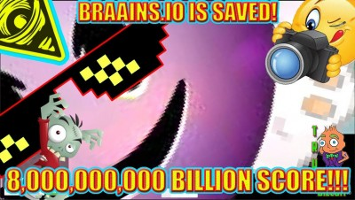 NEW UPDATE: BRAAINS.IO MAP!!! [8,000,000,000 BILLION SCORE] EXTREME GAME MODE | 1 VS 1,000 Emojis HD