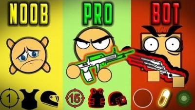 NOOB vs PRO vs BOT - Surviv.io Battle Royale Highlights