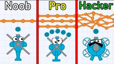 NOOB vs PRO vs HACKER in Defly.io