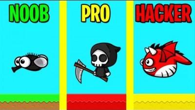 NOOB vs PRO vs HACKER in FLYORDIE.IO!