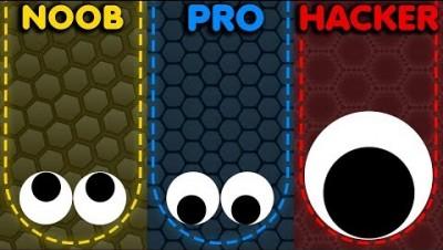 NOOB vs PRO vs HACKER in Slither.io Best Gameplay!