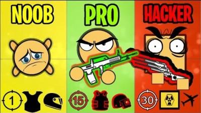 NOOB vs PRO vs HACKER - Surviv.io Battle Royale Stereotypes & Highlights
