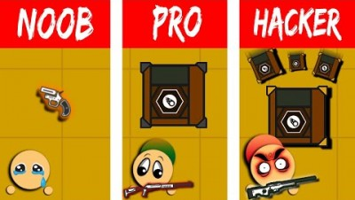 NOOB vs PRO vs HACKER - Surviv.io | Desert Rain Mode Update