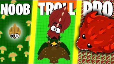 NOOB vs PRO vs TROLLER in Mope.io!