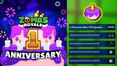 OPENING THE RARE ANNIVERSARY CHEST! | Zombsroyale.io Birthday Challenges & Rare Skins
