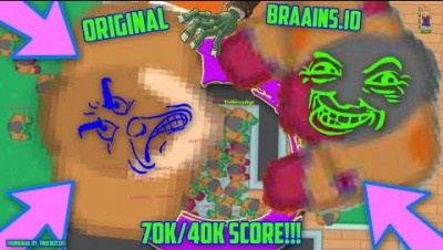 ORIGINAL BRAAINS.IO: WORLD'S BIGGEST TARO VS WORLD'S BIGGEST ZOMBIE [70K/40K SCORE] EPIC MOMENTS NEW