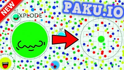 PAKU.IO WORLD RECORD BIGGEST BLOB!! // Best New .IO Game (Like Agar.io)