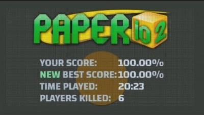 Paper.io 2 Battle Map Control: 100.00%