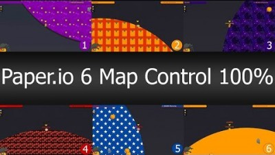 Paper.io 2 INSTANT WIN 6 Map Control: 100.00% ! - Paperio Best Gameplay! #1