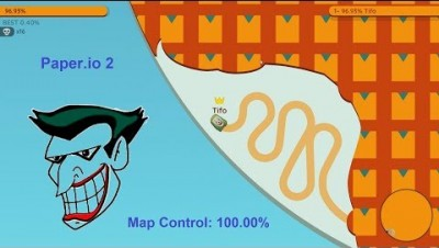 Paper.io 2 Map Control: 100.00% [Joker]
