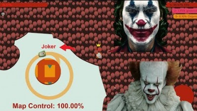 Paper.io 2 Map Control: 100.00% [Joker Vs Clown]