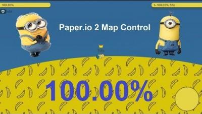 Paper.io 2 Map Control: 100.00% [Minions]