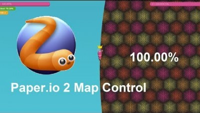 Paper.io 2 Map Control: 100.00% [Slither]