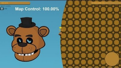 Paper.io 2 Map Control: 100.00% [Small Map]