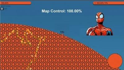 Paper.io 2 Map Control: 100.00% [Spider-Man]