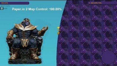 Paper.io 2 Map Control: 100.00% [Thanos Hand] World Epic Fight