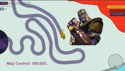 Paper.io 2 Map Control: 100.00% [Thanos: King of Paper]