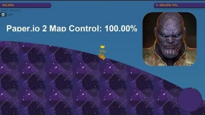Paper.io 2 Map Control: 100.00% [Thanos Legendary]