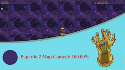 Paper.io 2 Map Control: 100.00% [Thanos The King]