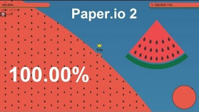 Paper.io 2 Map Control: 100.00% [The Master of Paper.io]