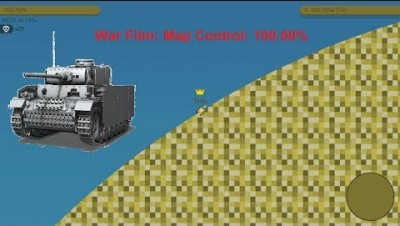 Paper.io 2 Map Control: 100.00% [War Film]