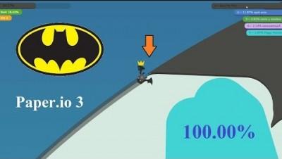 Paper.io 3 How to Get: Map Control 100.00% [Batman]