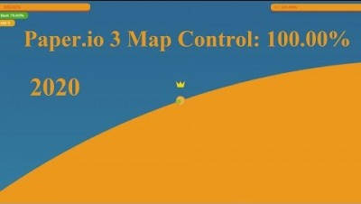Paper.io 3 Map Control: 100.00% 2020