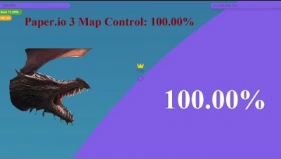 Paper.io 3 Map Control: 100.00% [Dragon]