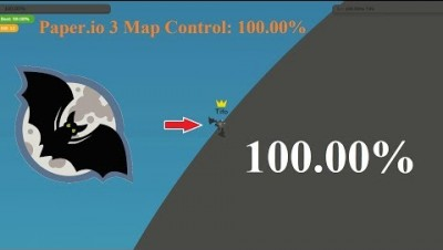 Paper.io 3 Map Control: 100.00% [Epic Bat]