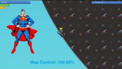 Paper.io 3 Map Control: 100.00% [Flash Superman]
