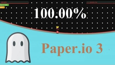 Paper.io 3 Map Control: 100.00% [Ghost]