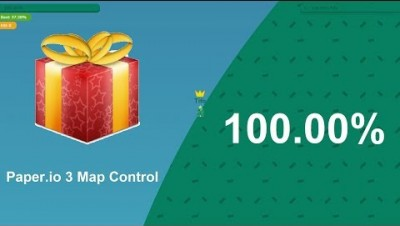 Paper.io 3 Map Control: 100.00% [Glory]