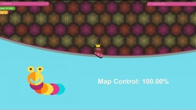 Paper.io 3 Map Control: 100.00% [Jet Motor Worm]