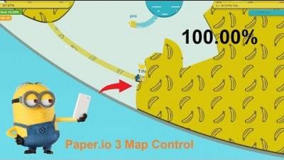Paper.io 3 Map Control: 100.00% [Minions]