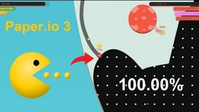 Paper.io 3 Map Control: 100.00% [Pac-Man]