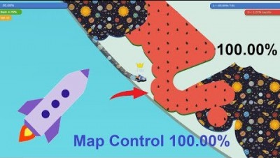 Paper.io 3 Map Control 100.00% [Rocket]