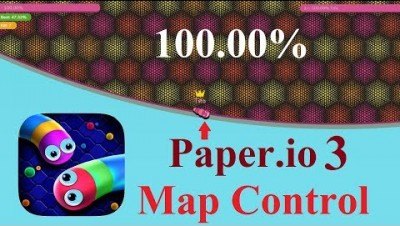 Paper.io 3 Map Control: 100.00% [Slither.io]
