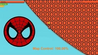 Paper.io 3 Map Control: 100.00% [Spiderman: Jet Motor]
