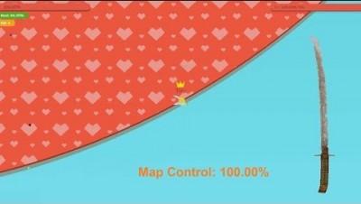 Paper.io 3 Map Control: 100.00% World