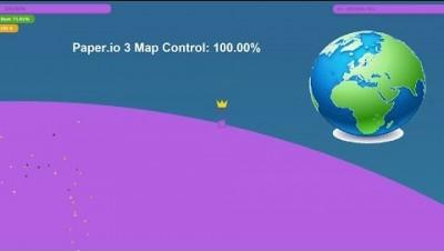 Paper.io 3 Map Control: 100.00% World Epic