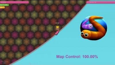 Paper.io 3 Map Control: 100.00% [Worm]