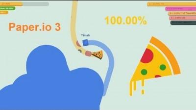 Paper.io 3 [Pizza] Map Control 100.00%