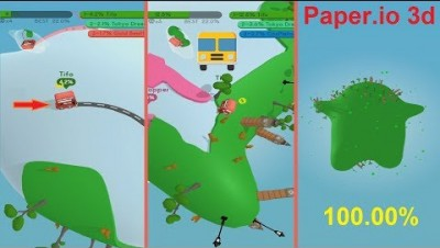 Paper.io 3d Map Control: 100.00% [Bus]