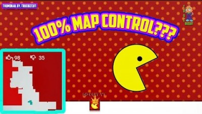 PAPER.IO 4 [NEW IO GAME 2019] 100% MAP CONTROL CHALLENGE - BIG PAC MAN Paperio