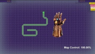 Paper.io Map Control: 100.00% [Thanos Hand]