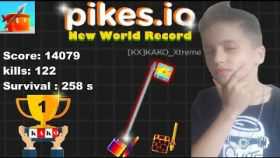 PIKES.IO - PIKES.IO NOVO RECORD MUNDIAL / PIKES.IO NEW WORLD RECORD / PIKES.IO GAMEPLAY PT/BR