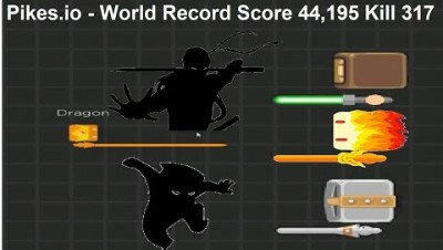 Pikes.io - World Record Score 44,195 Kill 317 (Various Ninja's Techniques)