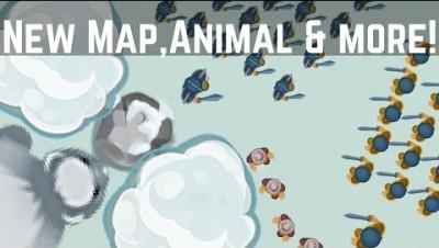 PLAY GLOR.IO ► New! Gardener, Snow Map, White Bears / Snow Biome | RajNoobTV - glor.io game