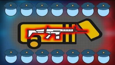 POLICE VS SCAR!! Strongest Surviv.io Weapon Destroys Enemies! Survivio Gameplay Highlights Montage!