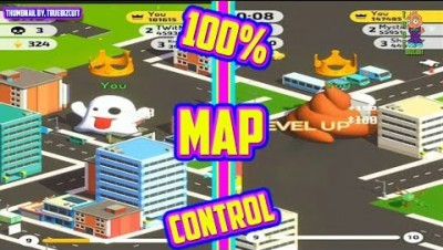POO.IO [NEW IO GAME 2019] 100% MAP CONTROL +200,000K HIGH SCORE EMOJI.IO